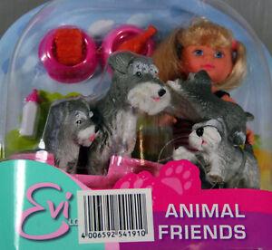 3x Simba en Animal Friends- poupée avec des chiens- animaux- personnage- gris-afficher le titre d`origine IWKDSM9m-08151036-612475829