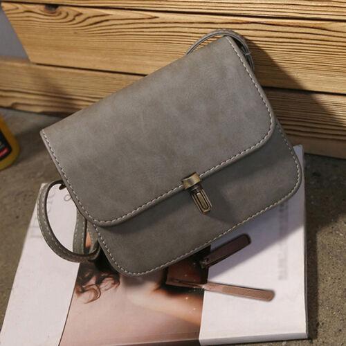 Women Faux Leather Satchel Handbag Shoulder Tote Messenger Crossbody Bag CF