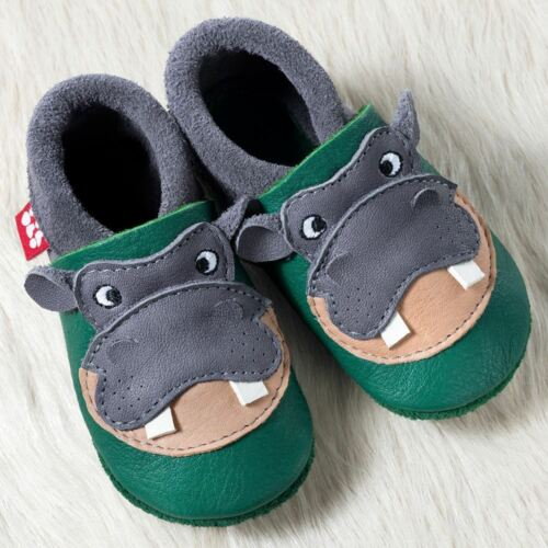 Pololo hippo hippopotame krabbel Cuir amener du éco Chaussures taille 18-27 NEUF