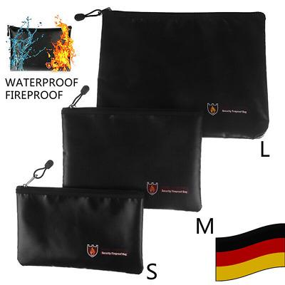 Feuerfeste Dokumententasche Geldkassette Dokumentensafe Lagerung 3 Größe NEU
