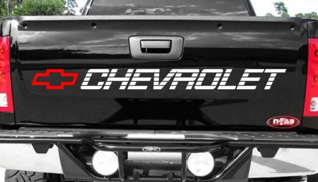 Chevy Tailgate Sticker Decal Chevrolet Bow Vinyl Graphics