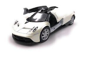Maquette-de-Voiture-Paganai-Huayra-Hypercar-Blanc-Auto-Echelle-1-3-4-39