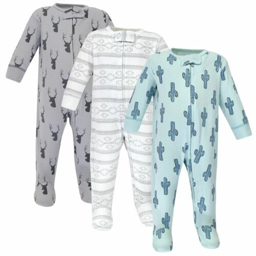 Cactus 3-Pack Yoga Sprout Boy Zipper Sleep N Play