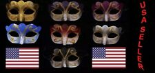 Lot of 7 Mixed Wholesale Glitter Theme Mardi Gras Masquerade Costume Mask