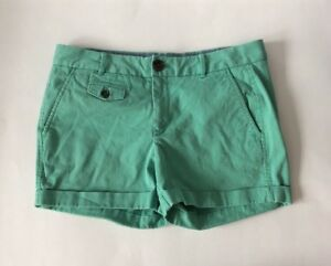 Banana-Republic-City-Chino-Shorts-Size-6-Petite-Women-039-s-Jade-Green-Cuffed