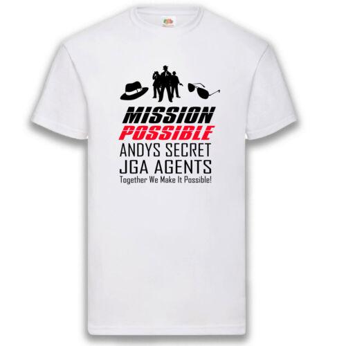 T-Shirt JGA Mission Possible Agents Hangover Junggesellenabschied Herren S-5XL