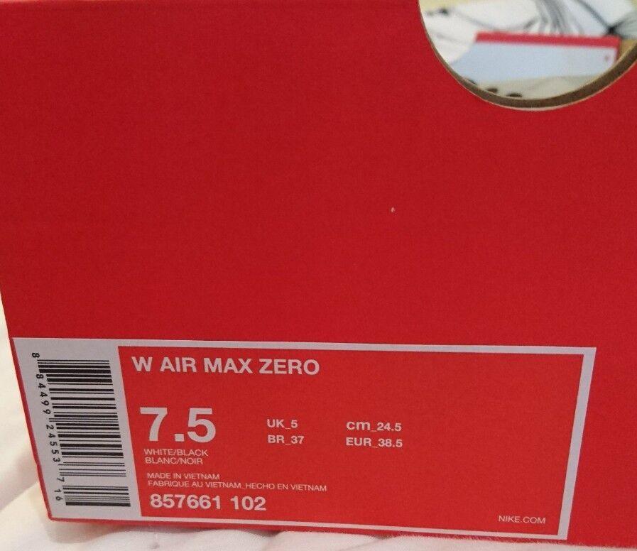 Nike Nike Nike femmes  Air Max Zero 0 blanc and Noir Uk 5 Bnib 857661 102 ladies Trainers b0d6e3