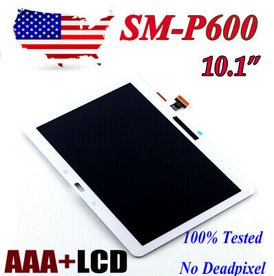 For Samsung Galaxy Note 10.1 P600 LCD Touch Screen Digitizer Assembly White USTW