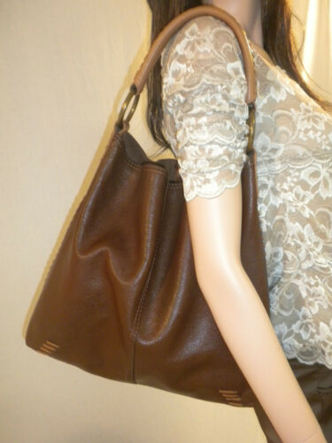 LUCKY  BRAND  Brown  Whipstitch Leather  Penny*s B