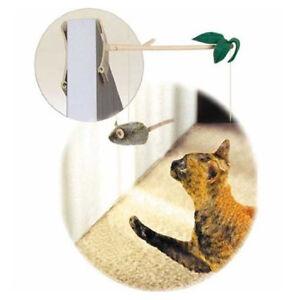 PLAY-N-SQUEAK-Batting-Practice-with-Door-Hanger-Catnip-Squeak-Cat-Kitten-Toy