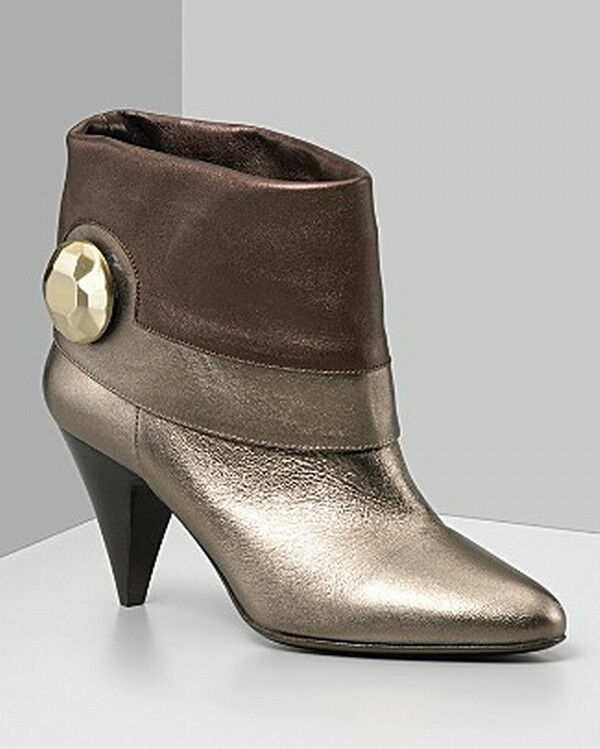 Botkier NIB  575  purple  Leather Ankle Boots  8.5
