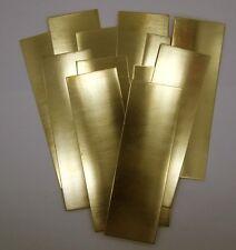 """Raw Brass Sheet, Bracelet Cuff Blanks 6"""" x 2"""" 20ga Package Of 12"""