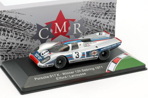 Larrousse 1:43 CMR Porsche 917K #3 Winner 12h Sebring 1971 Elford