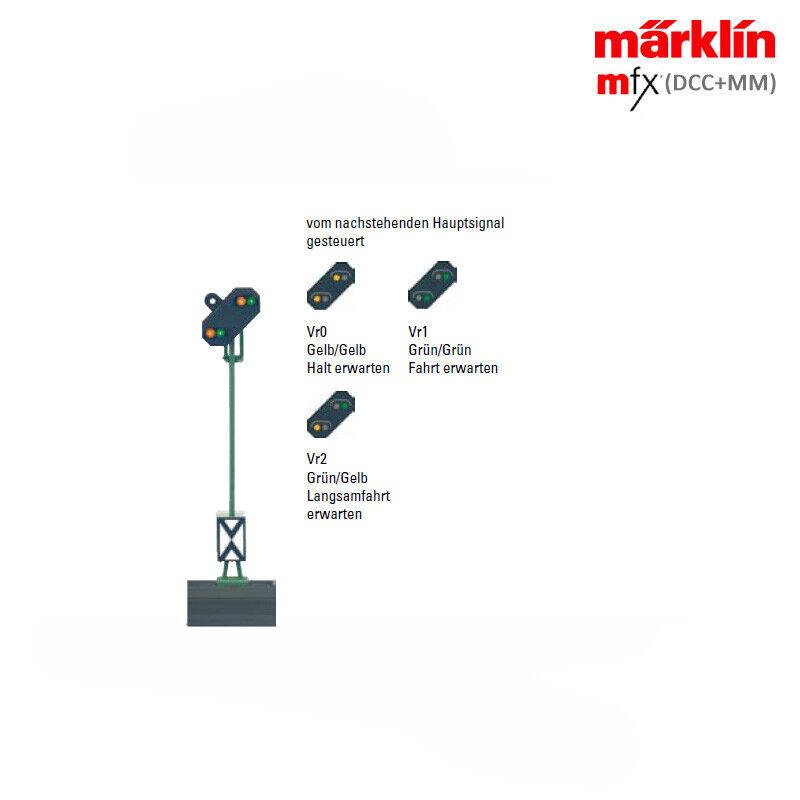 Märklin 76481 Licht-Vorsignal mit Zusatzlicht (MM DCC mfx) ++ NEU in OVP