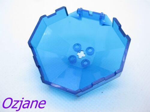 LEGO PART 2418B TRANSPARENT DARK BLUE WINDSCREEN 6 X 6 X 4 OCTAGONAL