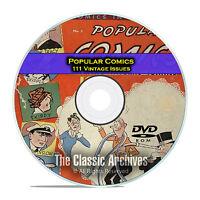 Popular Comics, 111 Issues, Dell Comics, Full Color, Golden Age Comics Dvd D25
