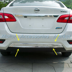 New Chrome Rear Bumper Cover Trim for Nissan Sentra 2016 ...