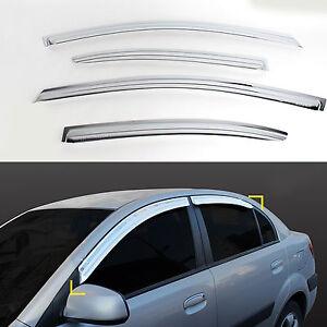 Chrome Window Visors Vent 4pc For 2008 2011 Hyundai i30