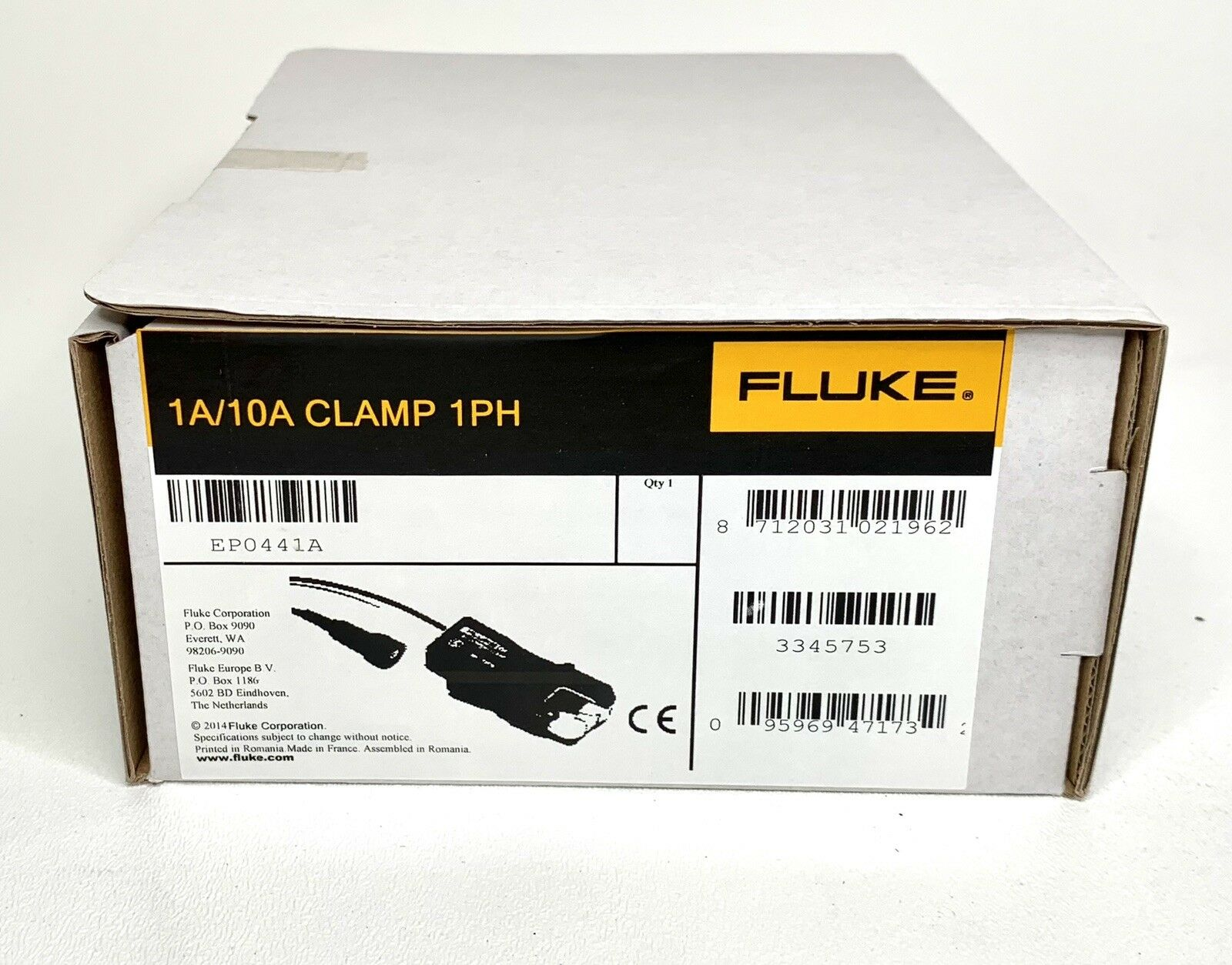 Fluke I1A//10A CLAMP PQ4 4 Phase Mini Current Clamp Set for Power Quality Logger 1A//10A Current
