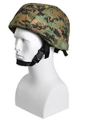 Army Woodland Digital Camouflage Helmet Cover Mich 2000 Helm Bezug