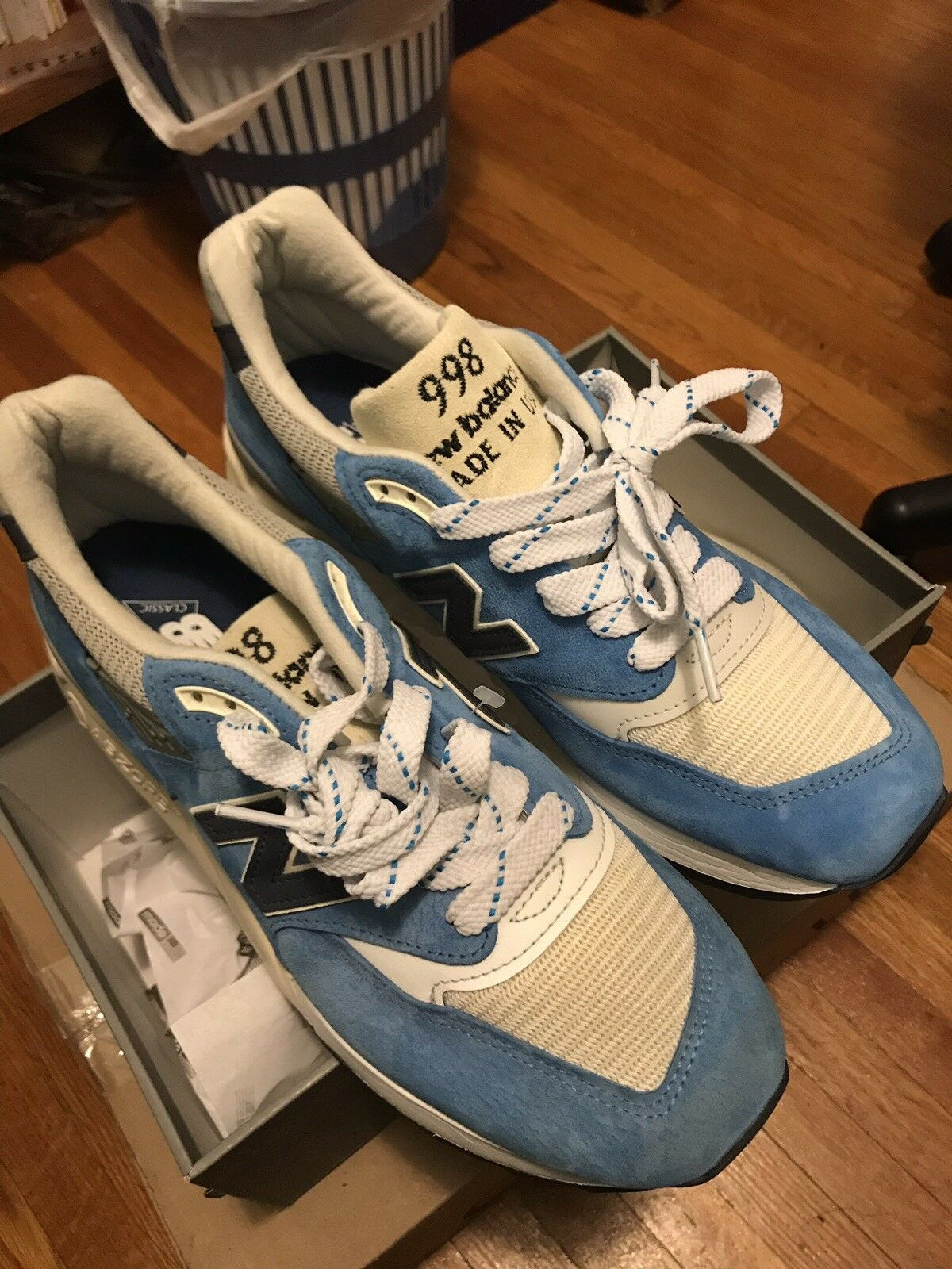 NEW J Crew x New Balance M998 Made In USA Bright bluee - Size 9