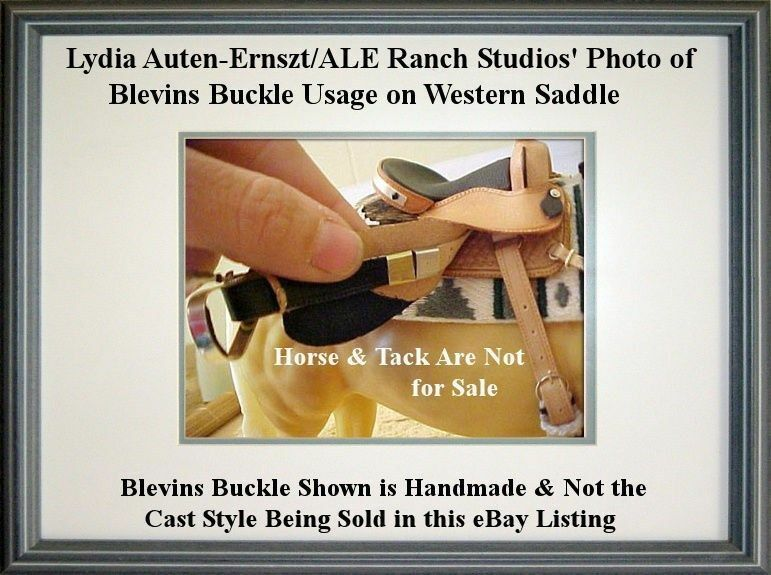 Traditional 1:9//Cl Pewter 1:12 ALE Ranch FOLD-OVER BLEVINS BUCKLE//SLEEVE SET