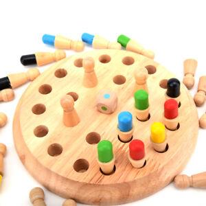 Holz-Memory-Match-Stick-Schachspiel-Kinder-Puzzle-intelligente-Lernspielzeug