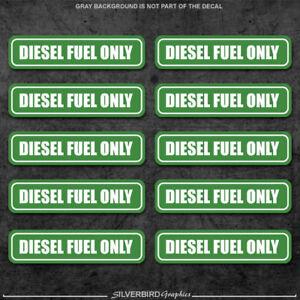decal vehicle 10x Non-Ethanol Fuel Only vinyl 3M label sticker gas