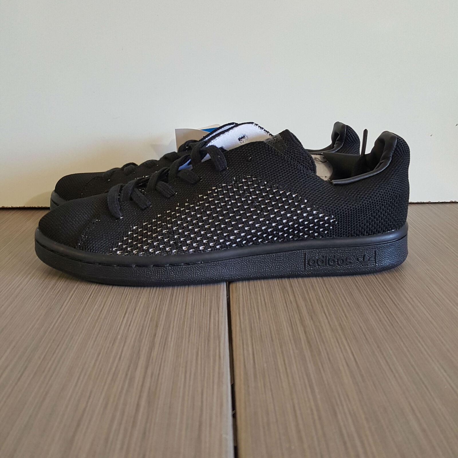Free Shipping!!! adidas Stan Smith Primeknit Core Nero AF4452