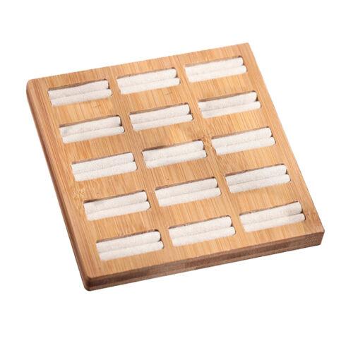 15 Slots Display Case Box Organizer Holder Storage Tray Earring Ring Jewelry