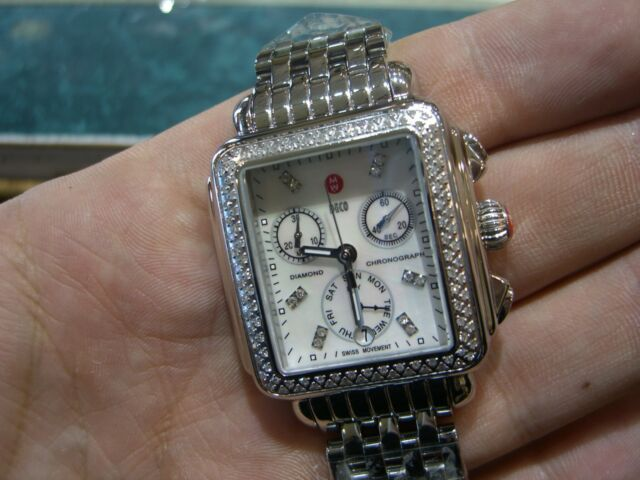 MICHELE WATCH Deco Day Diamond, Diamond Dial Authentic with Box & Papers NEW WOW