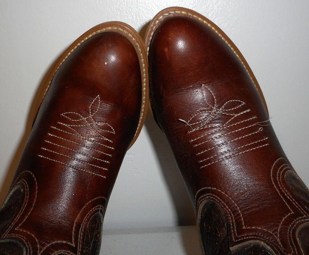 Damenschuhe 6 M Cowboy Stiefel Acme Dingo Distressed Boho Western Vintage Vintage Western Cowgirl Braun b95f16