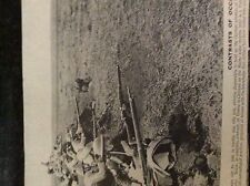 m6-9e ephemera 1918 picture british french troops hold line march advance