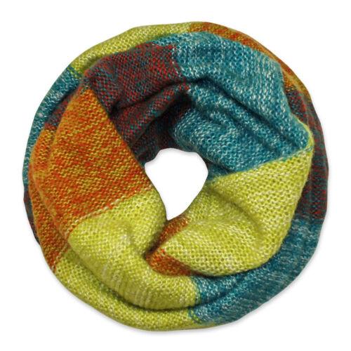 warmer Loop-Schal gestrickt bunt Schal Strick Winter Herbst Damen Herren Kinder