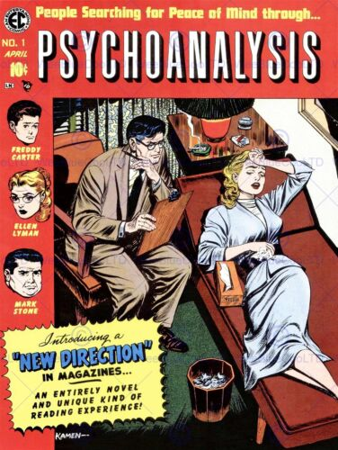 COVER PSYCHOANALYSIS PSYCHIATRIST PATIENT COUCH MIND ART POSTER PRINT CC6297