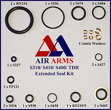 AIR ARMS SEAL KIT S410, S400, S310,TDR, MPR EXTENDED & CRINKLE WASHERS