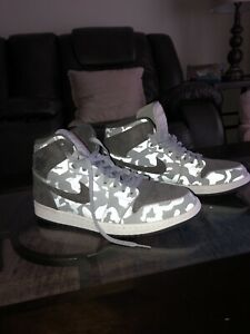 new concept e8c00 b7066 Details about Air Jordan 1 Retro High Premium Camo 3M Wolf Grey  (AA3993-027) Men's Size 10.5