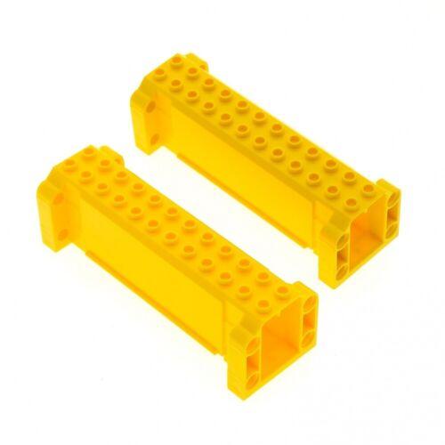 2x Lego Crane Boom Yellow 4x12x3 Support Carrier Crane 7249 7633 52041