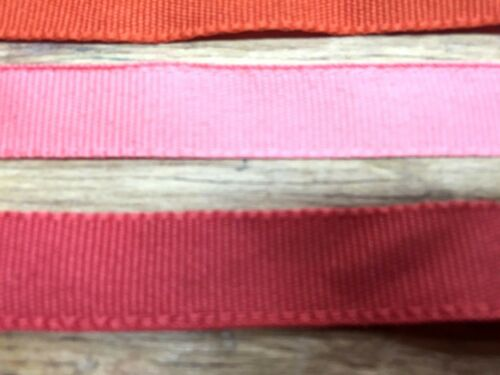 "VINTAGE GROSSGRAIN RIBBON 3//8/"" old stock Made in France 1yd"