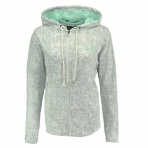 New-With-Tags-Womens-Under-Armour-Cold-Gear-Logo-Athletic-Gym-Full-Zip-Hoodie