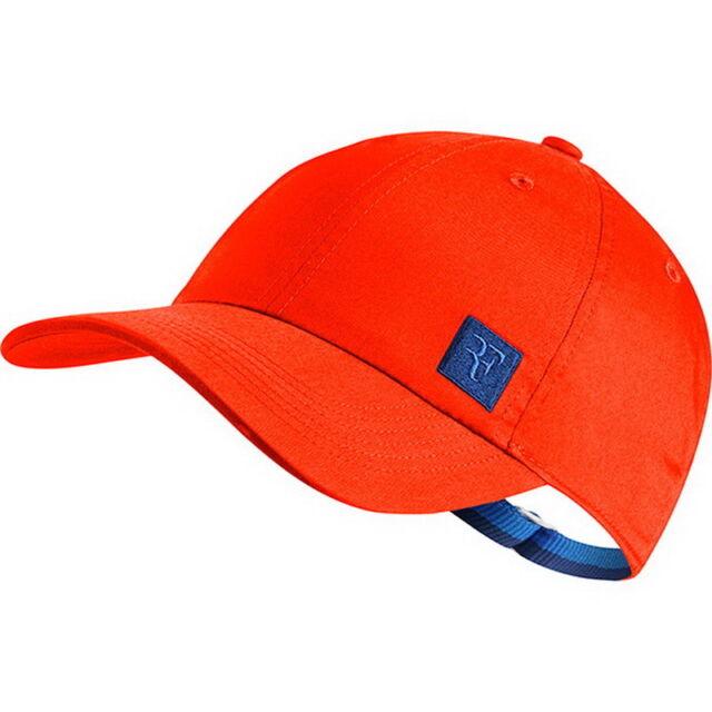 Nike Roger Federer Aerobill H86 Essential Tennis Hat Adjustable Size Red RF e0e31167203