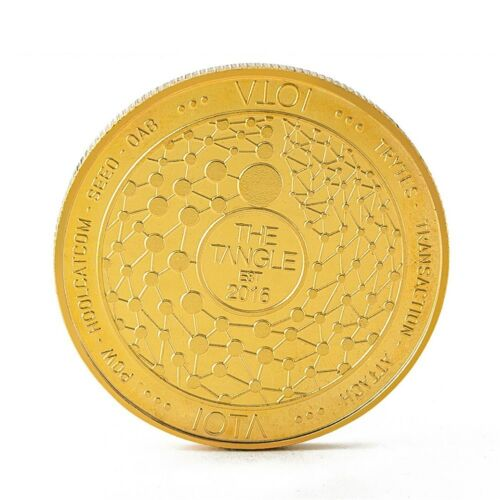 IOTA MIOTA Cryptocurrency Virtual Currency Gold Plated CoinBITCOIN