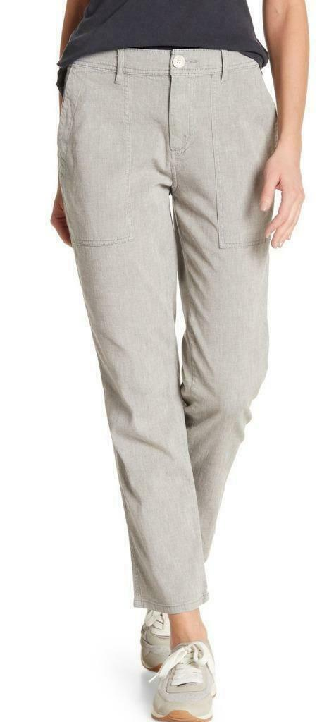 BRAND NEW  225 JAMES PERSE RELAXED COTTON LINEN UTILITY PANTS GREY SIZE 26