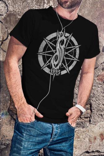 Slipknot Men Black T-shirt Heavy Metal Band Rock Tee Shirt