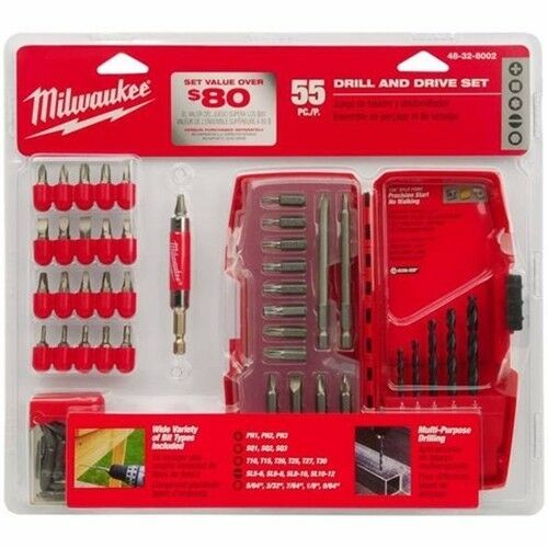 Milwaukee 55pc Drill and Drive Set 48-32-8002 New