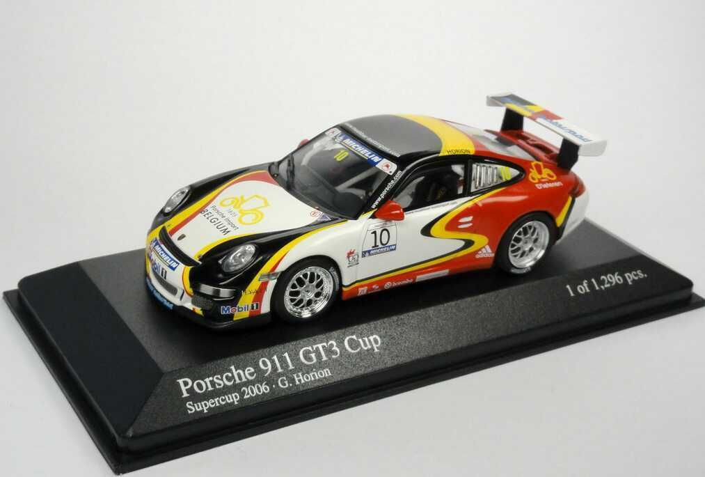 1:43 PORSCHE 911 gt3 Cup 997 SUPERCOPPA 2006 mühlner nr.10 HORION-Minichamps