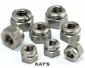 Self Locking Nut >> Details About Aerotight All Metal Self Locking Nuts A2 Stainless Steel Metric Sizes M3 To M20