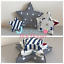 Fabric-stars-Wall-Art-Wall-Decor-Handmade-Fabric-shape-Nursery-fabric-letters thumbnail 3