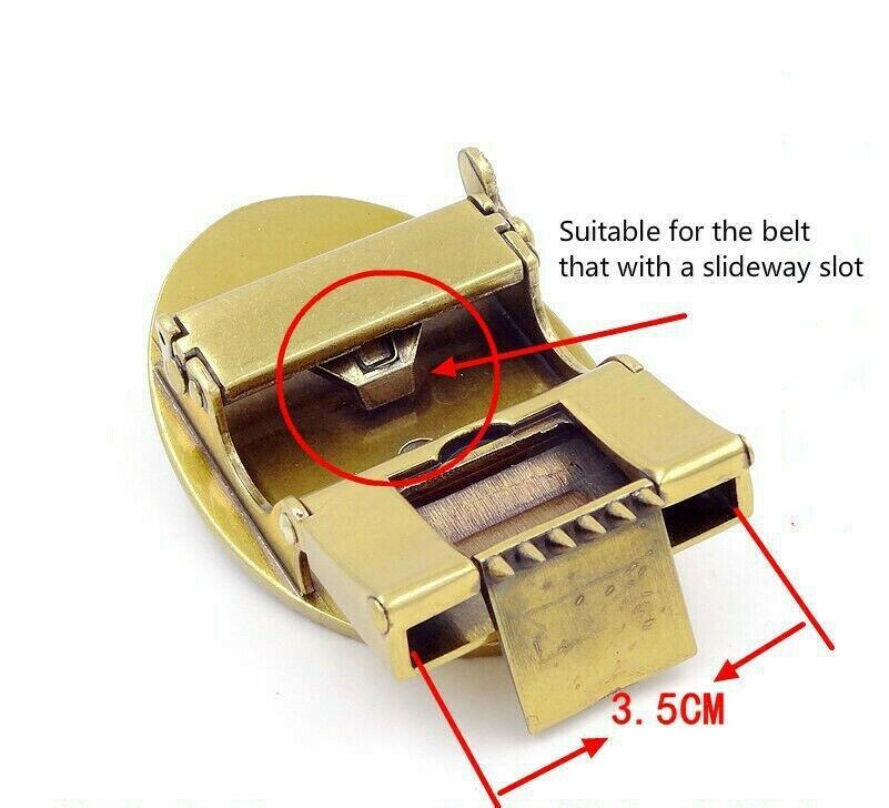 1 X Eule Tiger Ledergürtel Klinke Schnalle Stift Automatischer Ersatz Weiche