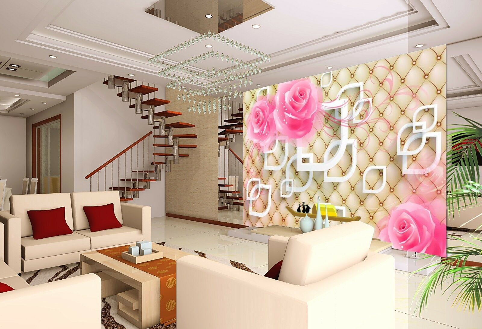 3D Floral texture Beautiful Wall Paper Print Decal Wall Wall Wall Deco Indoor wall Mural 94fd86